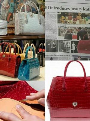 Crocodile-handbag-in-Korean-Times-newspaper